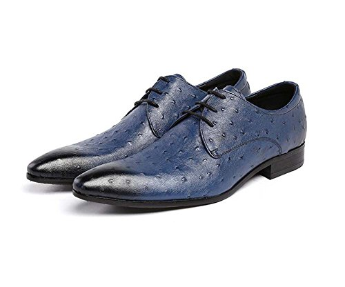 de de Tienen Vestir Tamaño de Zapatos Hombres Pequeño Zapatos 37 Acogedor Azul Británicos de Boda Color 44 Cuero Cordones Zapatos los Tamaño de YSqZf8