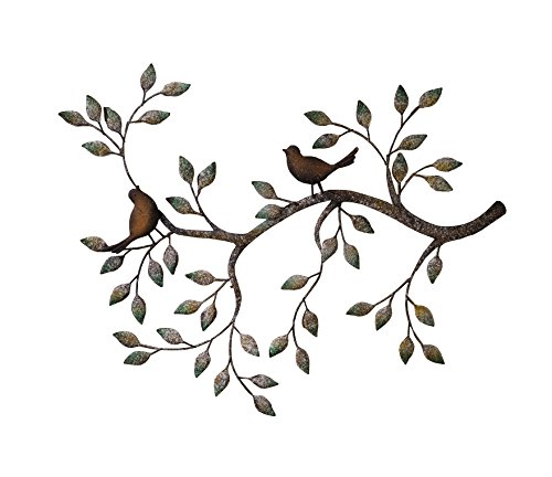 metal wall art amazon Amazon.com: 24 in Branches w/ Birds Decorative Metal Wall  metal wall art amazon