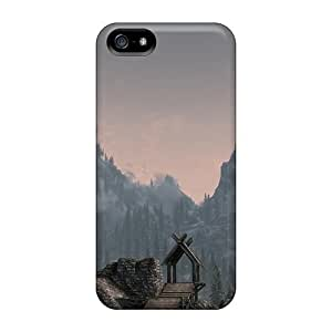 Fashionable KeH12111SIGW Iphone 5/5s Cases Covers For Skyrim The Whiterun Mountains Protective Cases