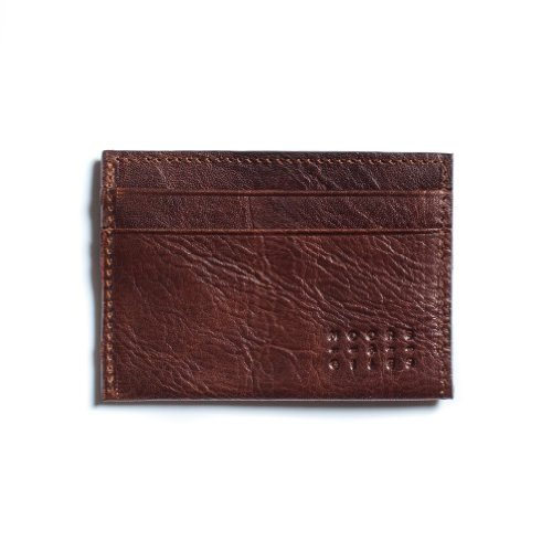 Moore and Giles Leather License Wallet - Mad Dog Brown