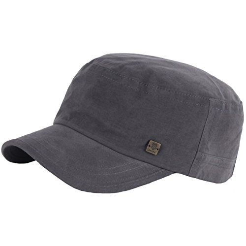 Unisex Military Cap (RaOn A153 New Unisex Simple Soft Irish Basic Unique Golf Army Cap Cadet Military Hat (Gray))