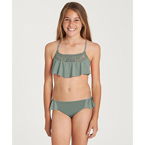 Billabong Big Girls' Macrame Madness Two Piece Swimsuit Set, Treetop, 12