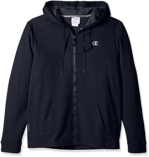 Navy Performance Hoody (Champion Men's Performance Fleece Full Zip Hoodie, Navy/Stealth, Medium)