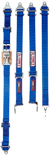 G-force Harness - G-Force 6460BU Blue 5-Point Junior Pull-Up Racer Latch and Link Individual Shoulder Harness Set