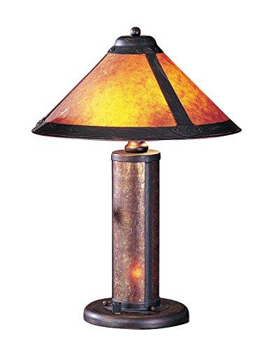 Cal Lighting BO-466 Gabriel Mica Column Table Light, Rust (Iron Rust Wrought Mica)