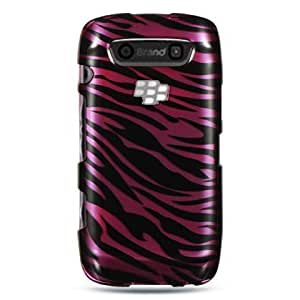 Viesrod VMG BlackBerry Torch 9850/9860 - Magenta/Black Zebra Design Hard Case + Car C...