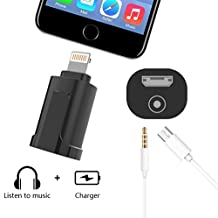 USB Audio adapter Edota Compatible for iOS10.3.2 ,Micro USB to 8 Pin Travel Adapter Lightning to 3.5mm Audio Charger Earphone Jack Adapter Charging USB Cable for iPhone 7 / 7 Plus / 6s / 6s Plus / 6 / 6 Plus / 5 / 5s / 5c, iPad mini / Air / Pro / iPod touch with 3FT Micro USB Cable