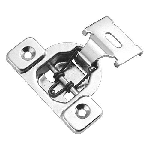 Hickory Hardware P5125-14 1/2-Inch Overlay Euro Frame Hinge, Bright Nickel 14 Bright Nickel Hinges