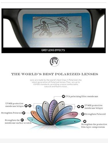 para 400 Sol para C4 Mujer Gafas De Hombre C1 UV Polarizadas Protección Aviator gvY5qHYxn