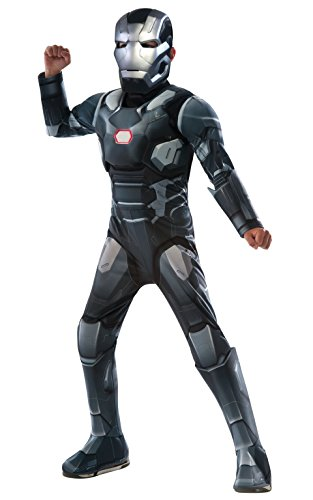 Hawkeye Costumes Marvel Heroes (Rubie's Costume Captain America: Civil War - War Machine Deluxe Muscle Chest Child Costume, Large)