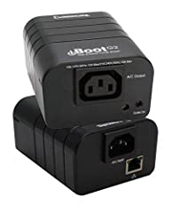 The dataprobe black network controlled power switch has other features which include power inlet: IEC 320 C13 plug, line cord for North America included of 16AWGX3C x 6'/2 m, and power out: IEC 320 C14 receptacle, extension cord for North Ame...