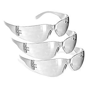 Rugged Blue Diablo Safety Glasses (Clear 3 Pair)