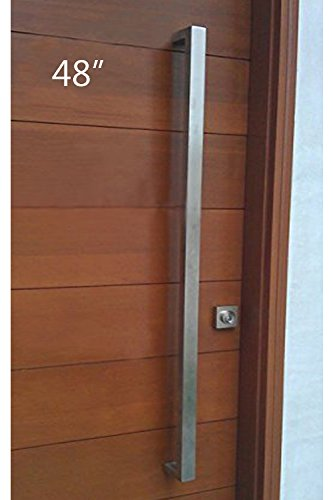 modern contemporary squarerectangle shape 1219mm 48 inches push pull stainless steel door handle for interiorexterior satin brushed finish
