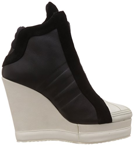 2182b7efd22 adidas Originals Women s Superstar Wedge Black and White Leather Sneakers -  8 UK  Buy Online at Low Prices in India - Amazon.in