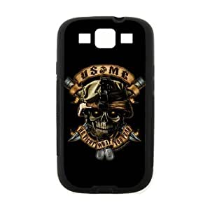 Fantasy Skull Design Marine Corps Metal Pattern Samsung Galaxy S3 I900 Case Cover (Laser Technology)