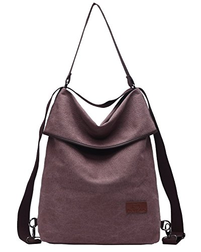 Convertible Hobo - Women Canvas Backpack Purse,Travistar Convertible Shoulder Bag with Adjustable Strap Ladies Travel Handbags