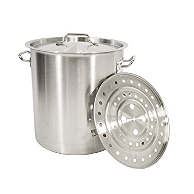 Gas One Stainless Steel Brew Kettle, Turkey Fryer Pot/Steamer Thickness 1mm Perfect for Homebrewing from Gas One
