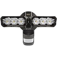 SANSI LED Security Lights, 27W (200Watt Incandescent Equiv.) Motion Sensor Lights, 2700lm 5000K Daylight Waterproof Outdoor Floodlights with Adjustable Dual-head, Bronze