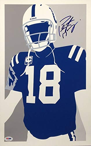 Peyton Manning Autographed Signed Autograph Indianapolis Colts 11X17 Art Print Sb Champ PSA/DNA Ae94400