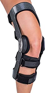 DonJoy Armor Knee Support Brace with FourcePoint Hinge: Standard Calf Length, Left Leg, Small