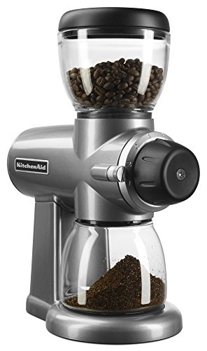 KitchenAid KCG0702CU Burr Coffee Grinder, Contour Silver by KitchenAid
