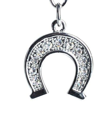 Lilly Rocket Rhinestone Horseshoe Key Chain with Swarovski Crystals