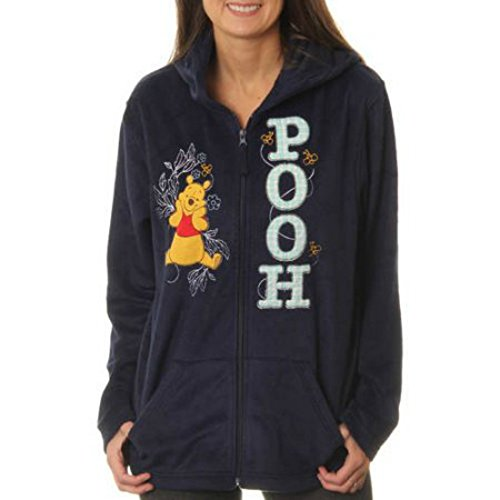 Winnie the Pooh Disney Women's Plush Fleece Full Zip Hoodie (S (4-6))]()