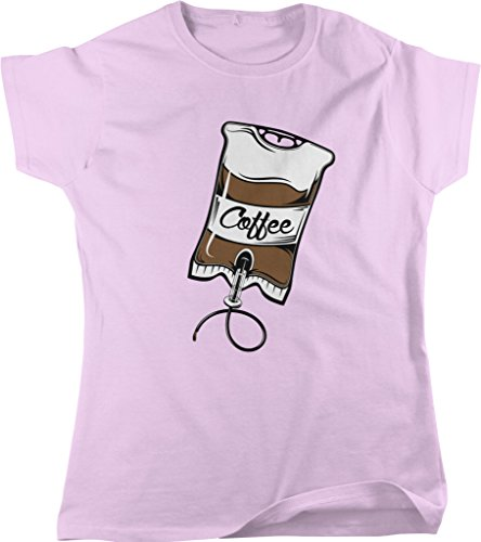 Coffee IV Bag, Caffeine, Expresso, Love Coffee, Cappuccino Women's T-shirt, NOFO Clothing Co. XL Pink