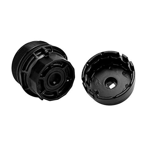 Custom 3mirrors Oil Filter Wrench 64MM 14 Flutes Oil Filter Cap Wrench for Acura Honda Durable Aluminium