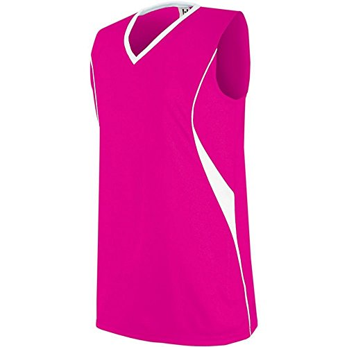 (High Five Wave Jersey-Womens,Raspberry/White,Small)