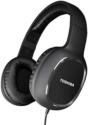 Toshiba RZE-D160H-BLK Lifestyle & Sport Over Ear stereo hoofdtelefoon met kabel en 3,5 mm jack plug in zwart design