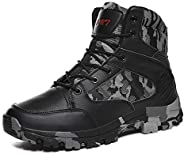 WintMing Men's Hiking Boots Waterproof Military Tactical Combat Boots Outdoor Work Shoes for Backpacking T