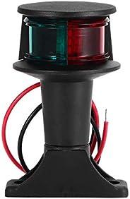 12V LED Navigation Signal Lamp, Peahog Adjustable Angle Marine Boat Light with Base, Boat Bow Light
