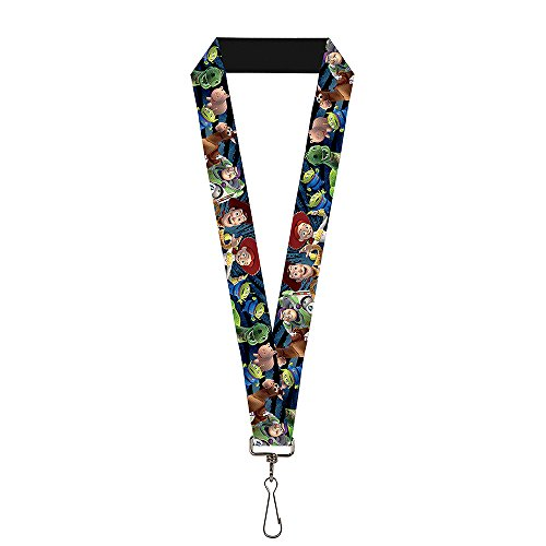 Buckle-Down Lanyard - Toy Story Characters Running2 Denim Rays ()