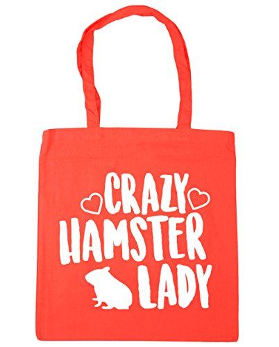litres Crazy HippoWarehouse hamster Bag lady Gym Shopping 10 42cm Tote Beach x38cm Coral PddxfwH