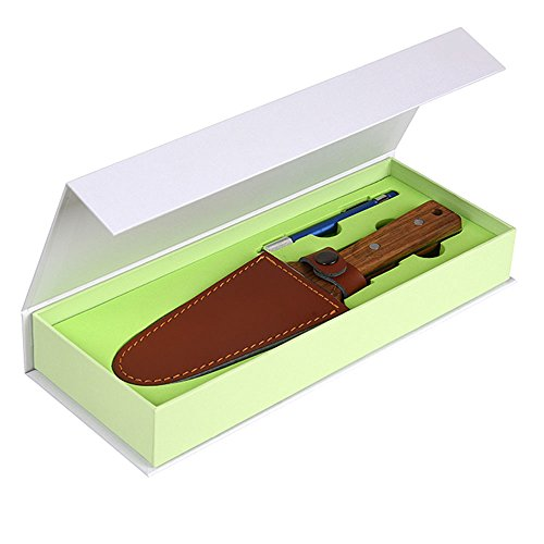CIELCERA Stainless Steel Hori Hori Gardening Trowel with FREE Sharpening Rod, Ideal for Planting, Transplanting, Ergonomic Full Tang Wooden Handle by CIELCERA (Image #1)