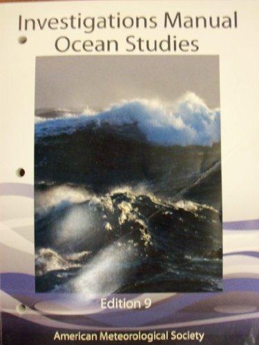 Ocean Studies Investigations Manual 9th Edition