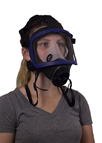Full Face Silicone Respirator Mask NBC Protection For Industrial Use Chemical Handling Painting Welding Prepping