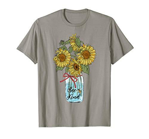 Bee Kind Sunflower T-Shirt Hippie Sunflower Bee Kind Shirt