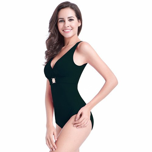 b59a582525 XXL Swimwear Slimming Plus Size One Piece Swimsuits Solid traje de bano  mujer Woman Bathing Suit beach swimsuit,black,XXXL