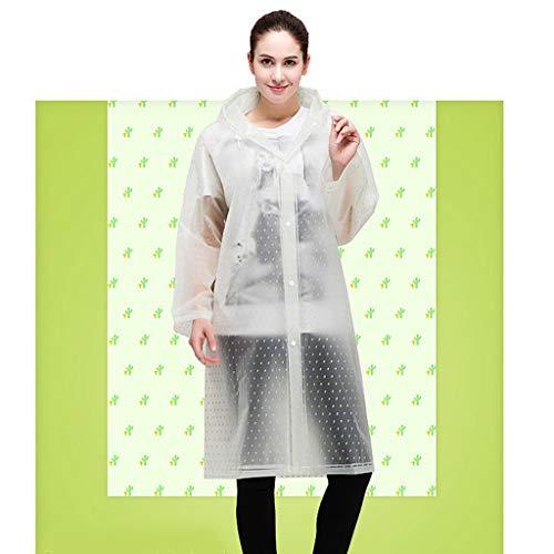Adulto Con Unisex Capucha A1 Weifan Transparente Poncho raincoat Manga Impermeable Y Reutilizable Impermeable TxHZnRqg