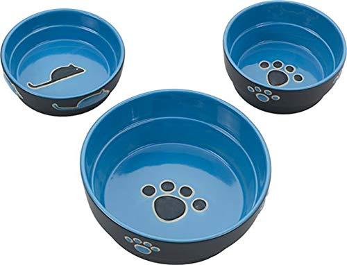 (SPOT Ethical Stoneware Dish 6896 Fresco Dog Dish Blue, 5 Inch )