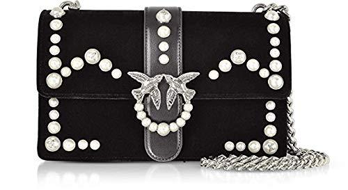 PINKO. BAG Love Velvet Pearls 1P216KY4YC W75 Nero  Amazon.co.uk ... 396a3d69f95