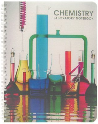 BookFactory Chemistry Lab Notebook (Scientific Ruled Format) - 100 Pages [Wire-O Bound] (LAB-100-WTR-CHEM) by BookFactory