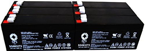 Price comparison product image SPS Brand 8V 3.2 Ah Replacement Battery Hamilton Industries SK10 Scale (6 Pack)