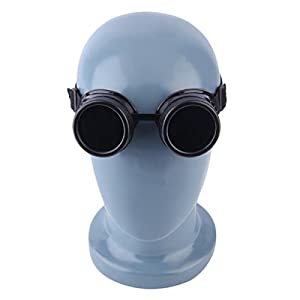 Cyber Goggles Steampunk Vintage Retro Welding Punk Gothic Sunglasses Black