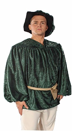 [OvedcRay Adult Mens Renaissance Peasant Shirt Pirate Medieval Male Costume Shirt] (Grease Lighting Costumes)