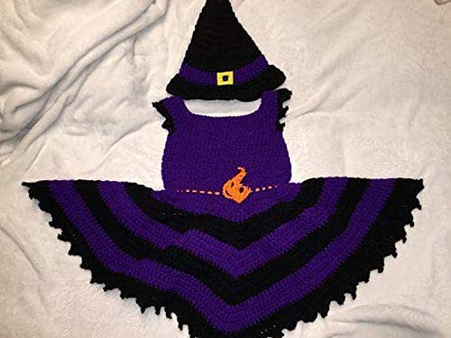 Amazon Com Crocheted Toddler Witch Costume Toddler Witch Witch Costume Toddler Costume Halloween Halloween Costume Toddler Halloween Costume Witch Dress Witch Hat Halloween Witch Costume Child Handmade