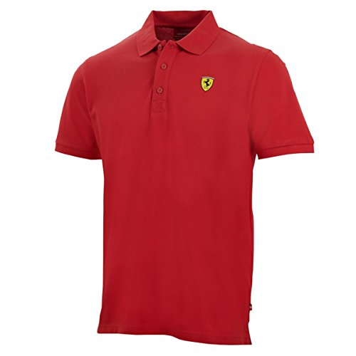 Ferrari Red Classic Shield Polo Shirt (LRG)