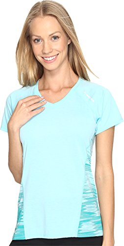 Brooks Women's Distance Short Sleeve Heather Mirage/Tile Shirt (Tile Mirage)